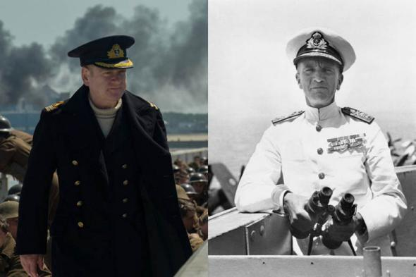 Kenneth Branagh's Commander Bolton (left) seems to have been inspired by Captain William Tennant (right).