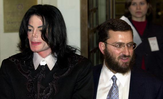 Michael Jackson and with Rabbi Shmuley Boteach in 2001.