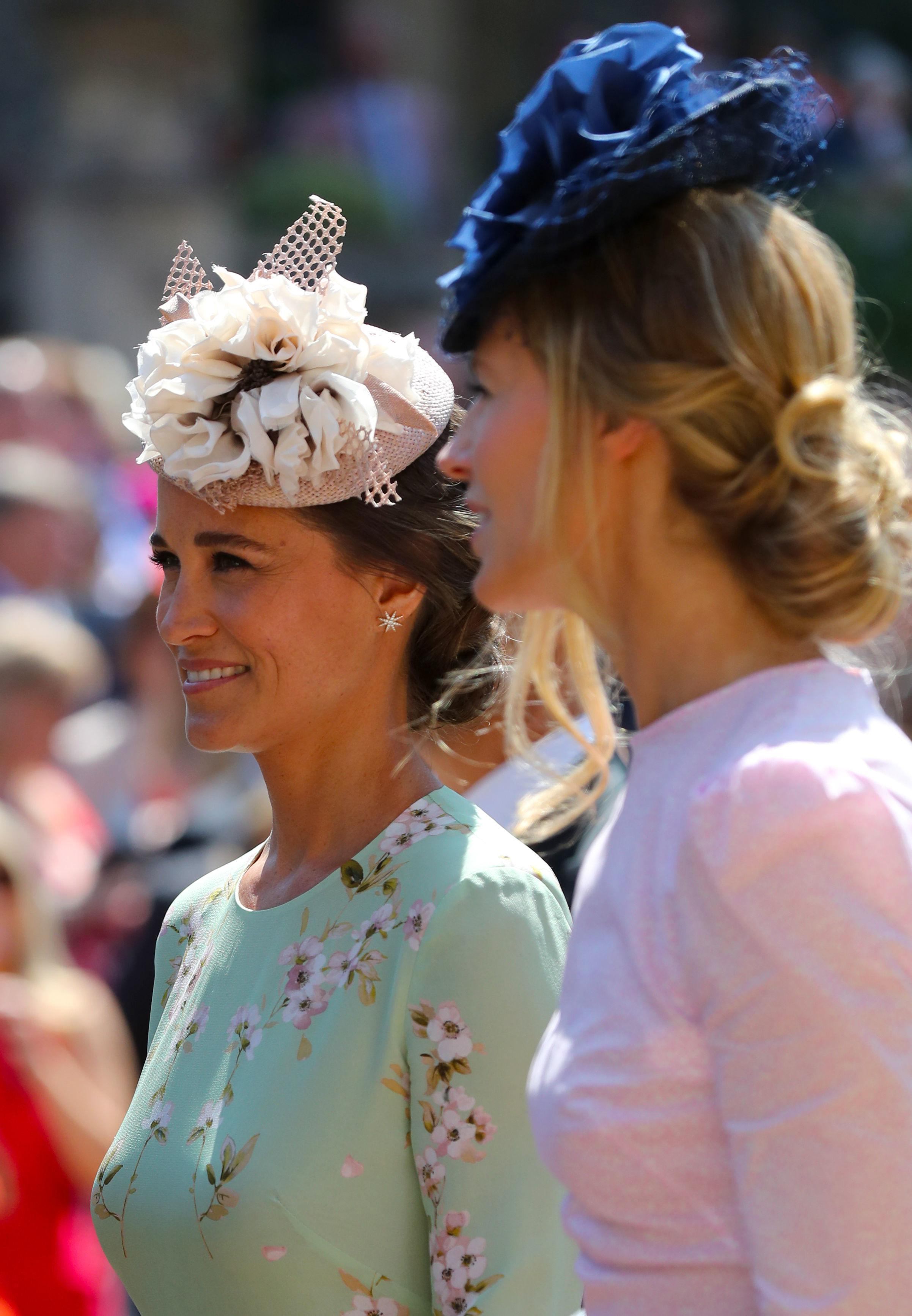 WINDSOR, UNITED KINGDOM - MAY 19:  Pippa Middleton leaves St George's Chapel at Windsor Castle after the wedding of Prince Harry to Meghan Markle on May 19, 2018 in Windsor, England. (Photo by Gareth Fuller - WPA Pool/Getty Images)