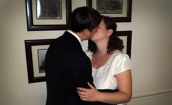 Newlyweds Torie Bosch and Chris Coccaro.