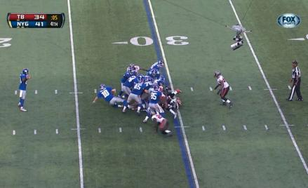 Giants-Bucs victory formation