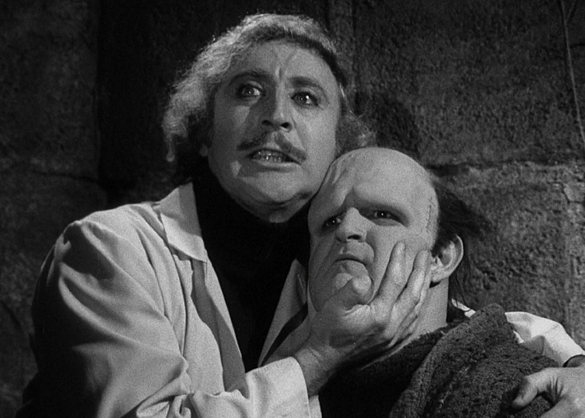 Gene Wilder and Peter Boyle in Young Frankenstein.