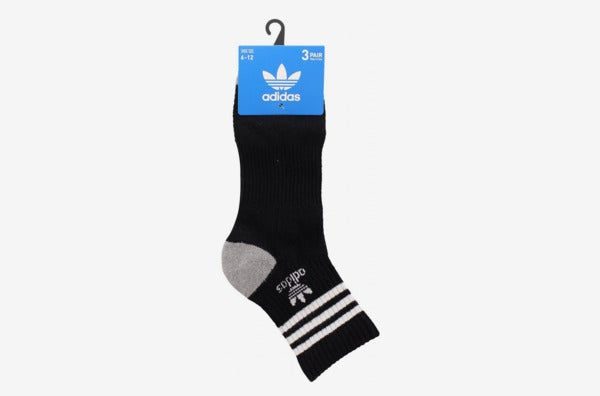 Adidas Men's Original Cushioned High Quarter Socks.