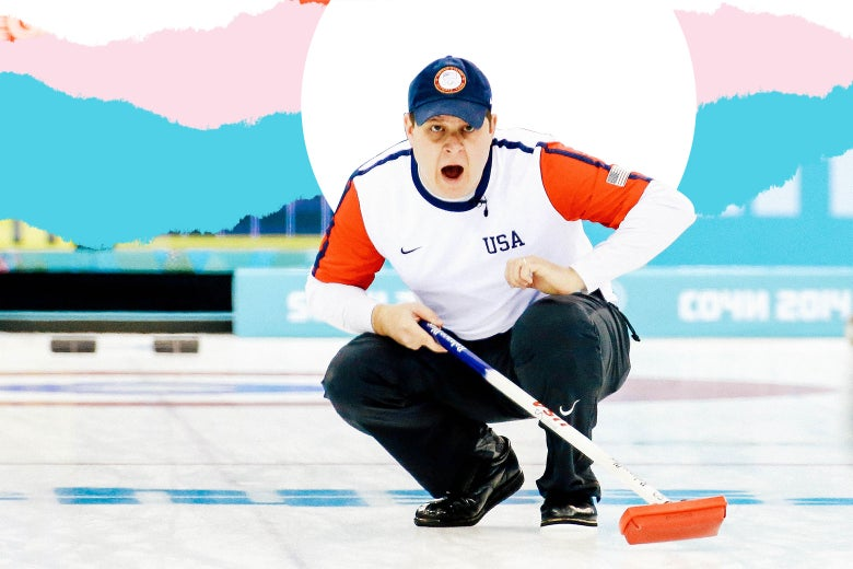 John Shuster of the USA competes against Switzerland during the men's curling round-robin on Day 10 of the Sochi 2014 Winter Olympics at Ice Cube Curling Center on Feb. 17, 2014 in Sochi, Russia.
