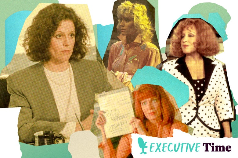 Female characters in Who's the Boss, Working Girl, Don't Tell Mom the Babysitter's Dead, and Big Business.