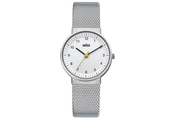 Braun Women's Classic Silver-Tone Watch With Mesh Stainless Steel Bracelet