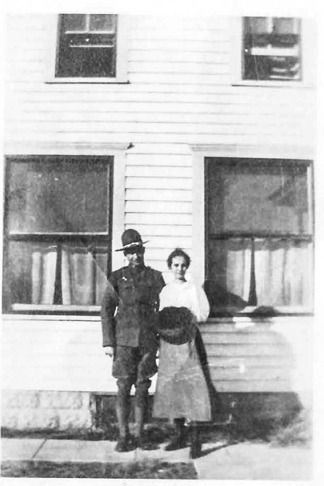 An old photo of a young couple
