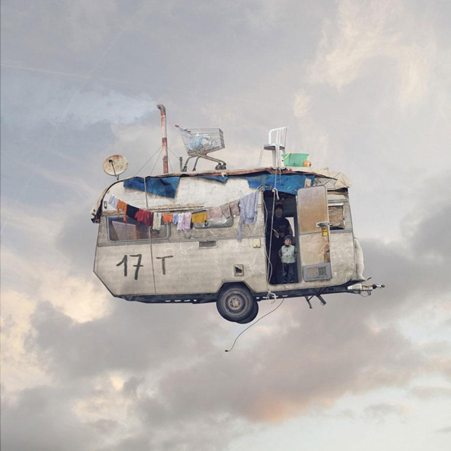 Laurent Chehere Flying Houses Caravane.