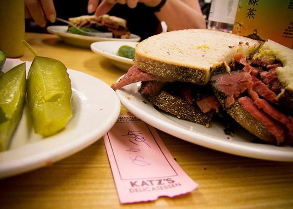 Katz's pastrami sandwich on rye