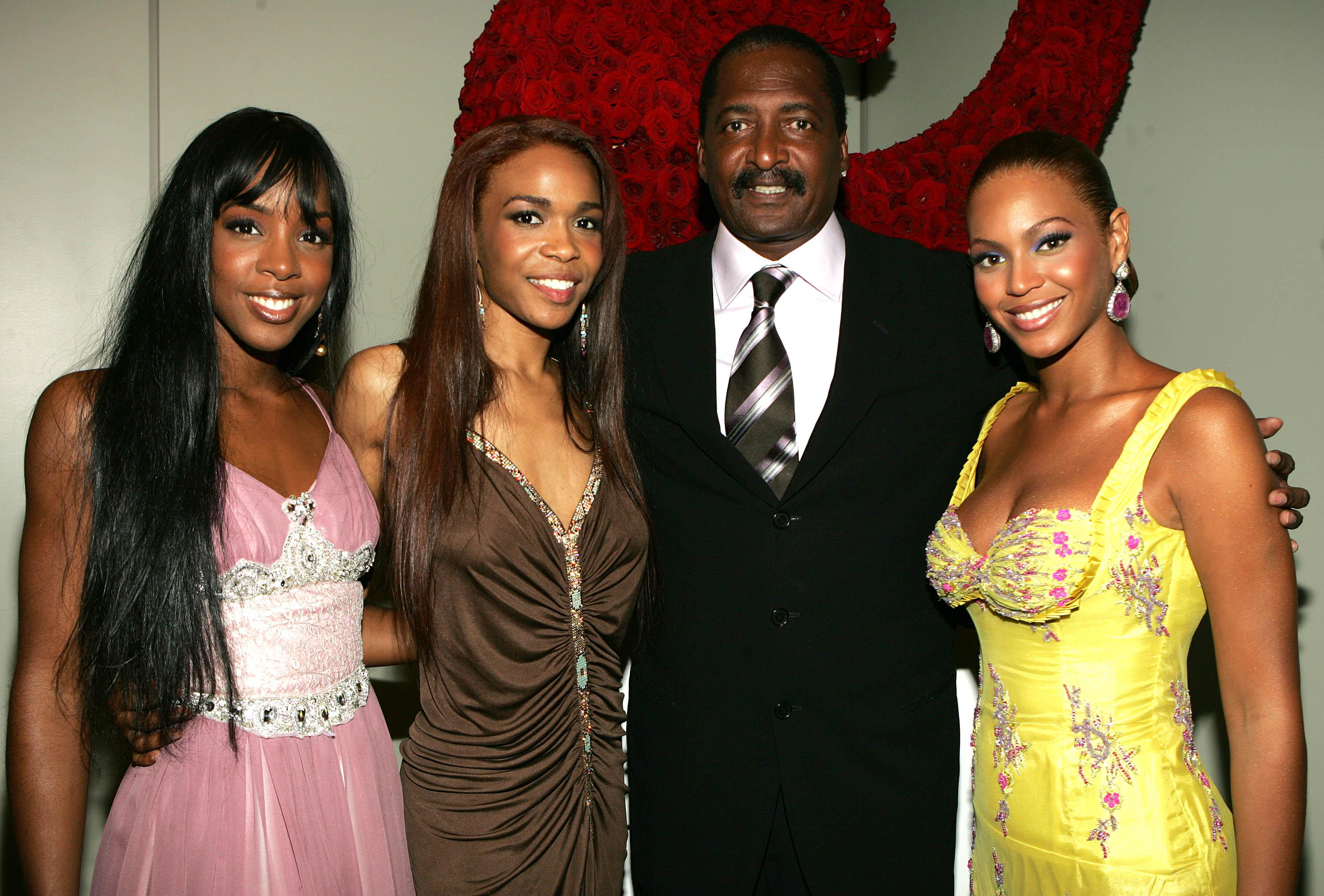 Beyoncé, Kelly Rowland, Michelle Williams, and Mathew Knowles.
