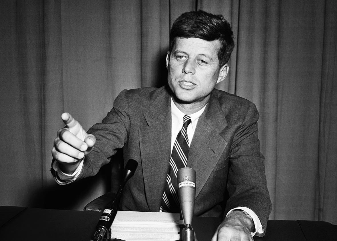 Senator John F. Kennedy Making Speech in Senate.