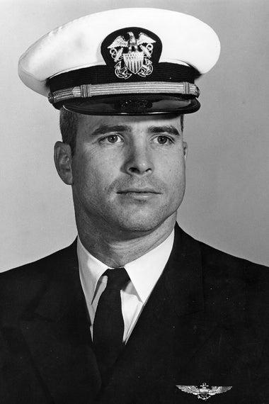 Young John McCain in uniform