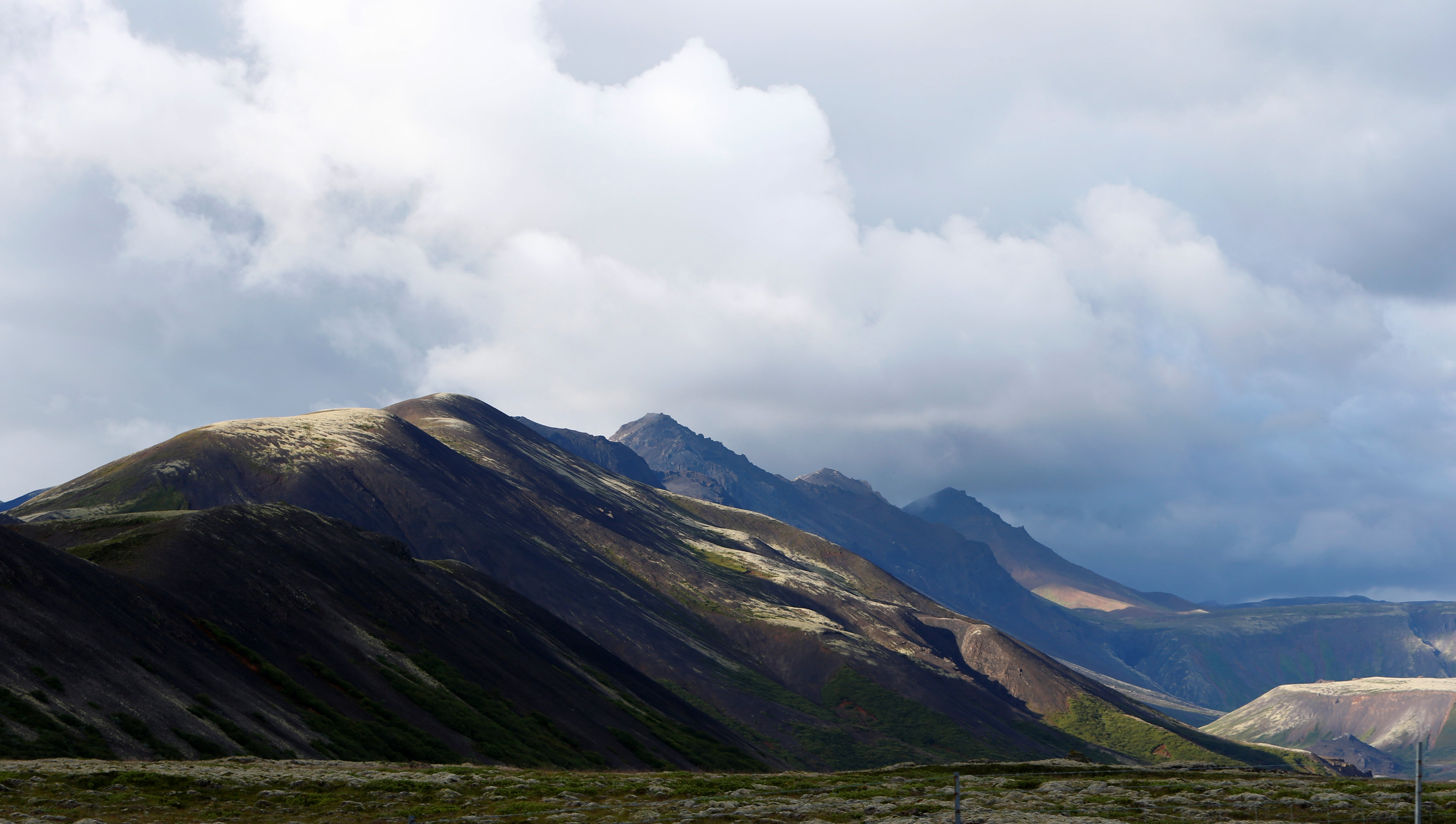 The rugged Icelandic landscape outside Reykjavic.