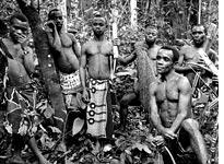 Amuzati and other members of his tribe after a hunt