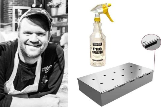 Ash Fulk and the spray bottle and smoker box.