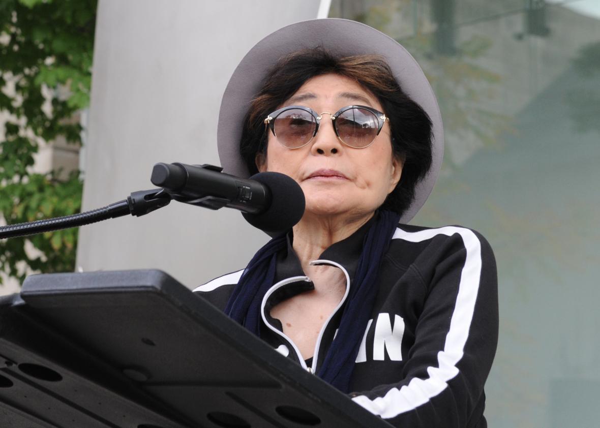 Political commentator Yoko Ono.