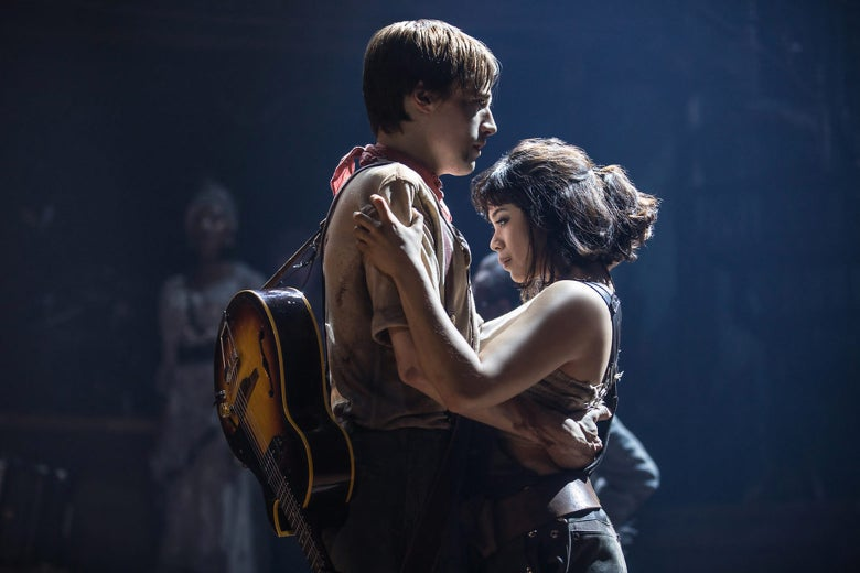 Still from Hadestown of Reeve Carney and Eva Noblezada.