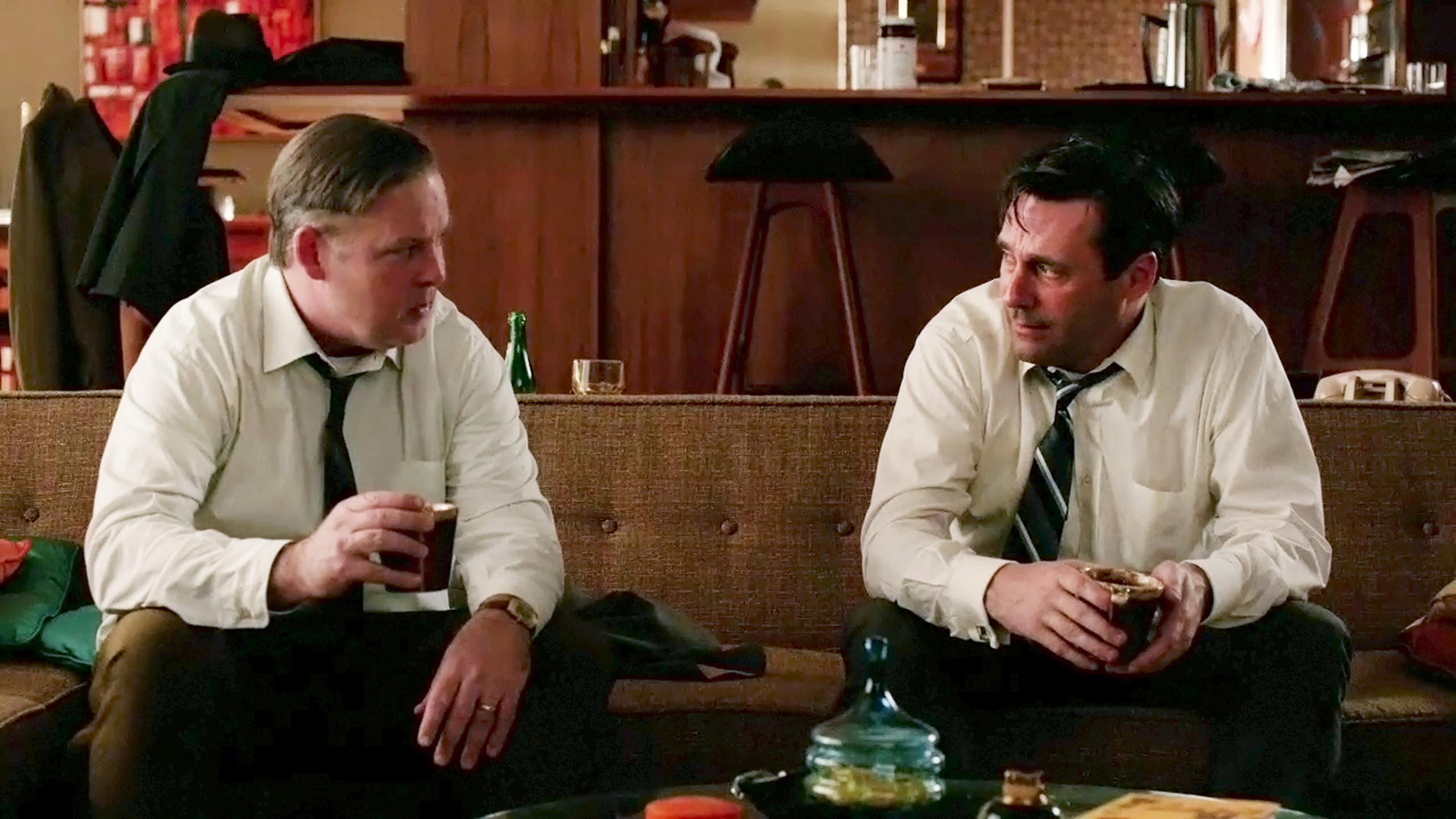 Don Draper and Freddy Rumsen