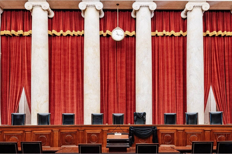 The inside of the Supreme Court.