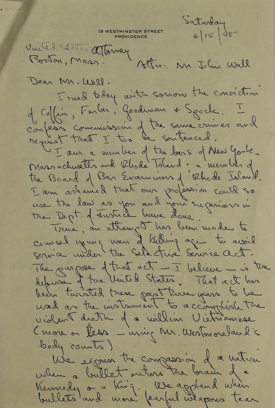 Hastings Letter 1
