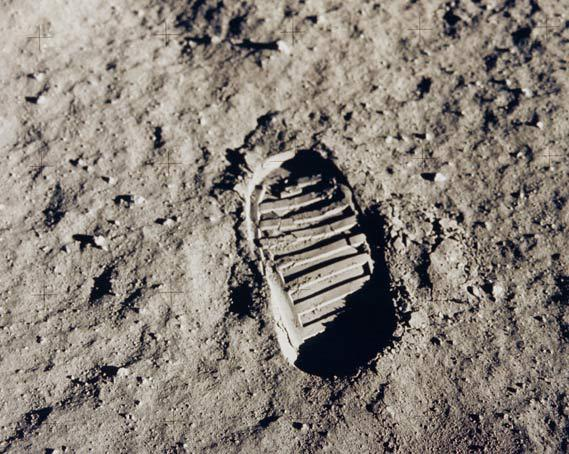 Bootprint on the Moon