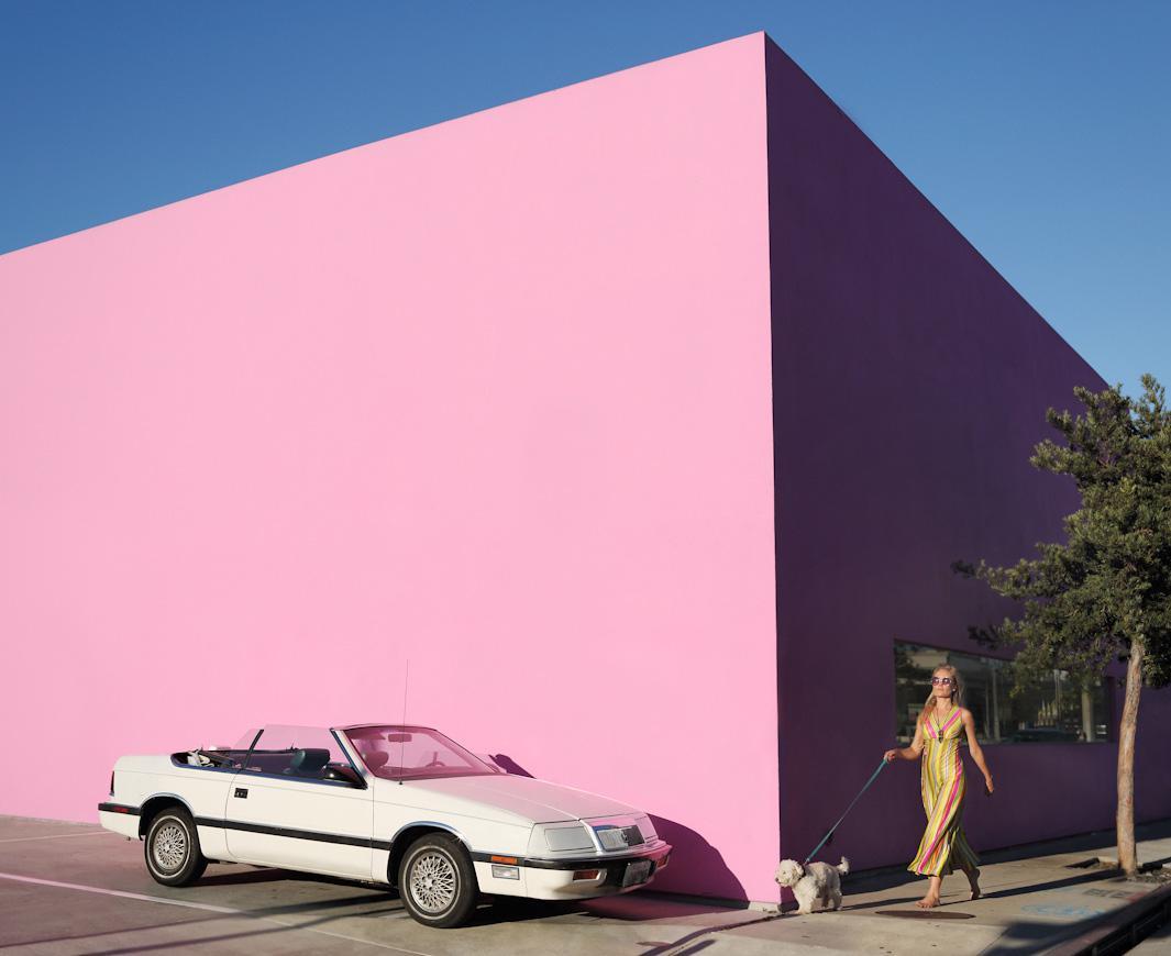 Shelby Duncan and her 1987 Chrysler, Lebaron. West Hollywood, California. September, 2013