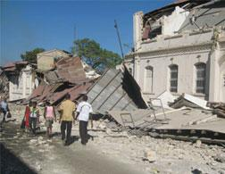 Destroyed buildings in Port-au-Prince, Haiti. Click image to expand.