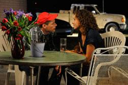 Matt Lauria as Luke Cafferty, Madison Burge as Becky Sproles. Click image to expand.