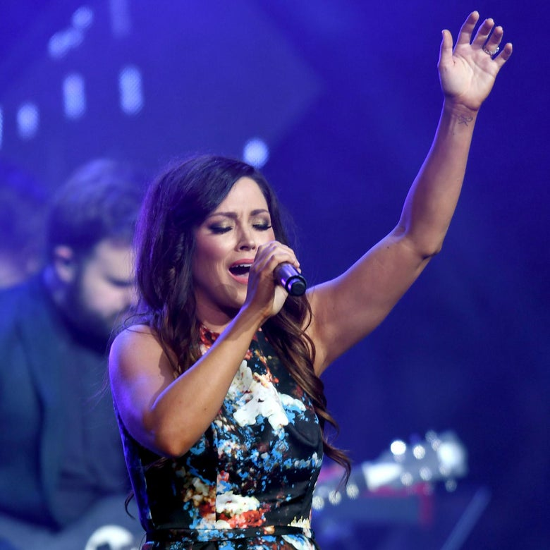 NASHVILLE, TN - MAY 28:  Kari Jobe performs onstage at the 5th Annual KLOVE Fan Awards at The Grand Ole Opry on May 28, 2017 in Nashville, Tennessee.  (Photo by Jason Davis/Getty Images for KLOVE)