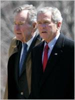 George H.W. Bush and George W. Bush.