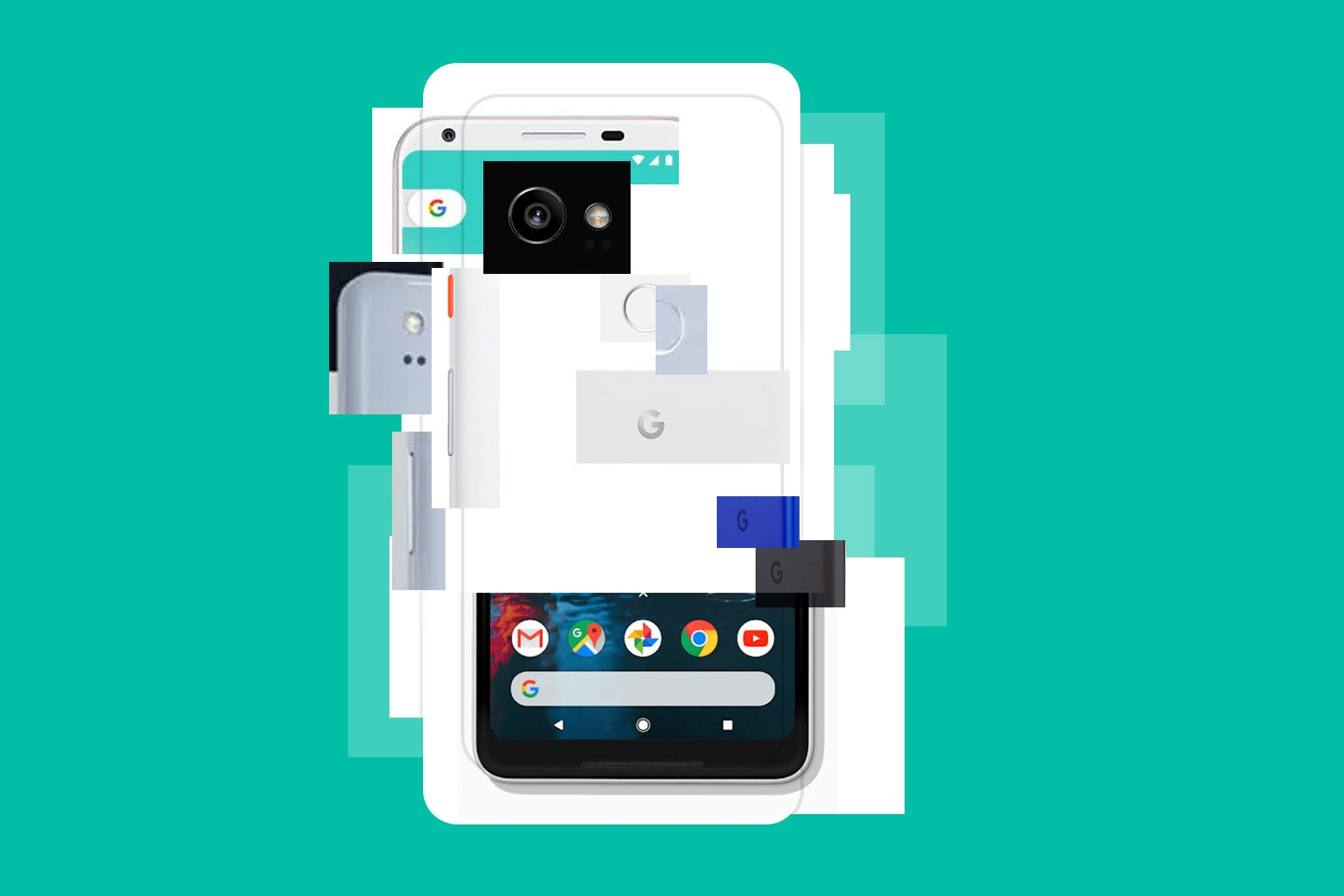 A Pixel phone made up of parts of previous Pixel models.