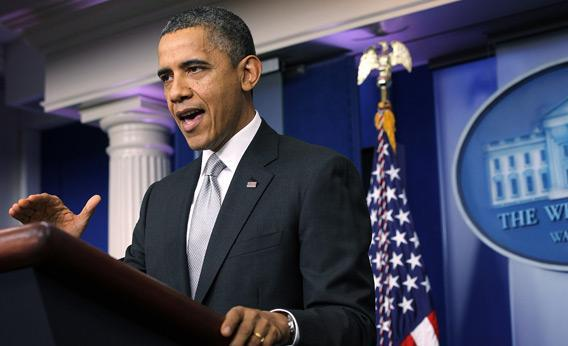 Barack Obama speaks during an announcement on gun reform in the Brady Press Briefing Room of the White House December 19, 2012 in Washington, DC.