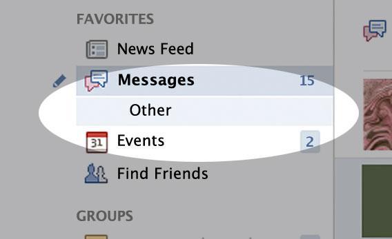 Altered screencapture of Facebook.