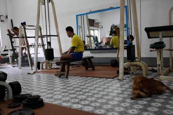 The team's official training facility in downtown Yangon.