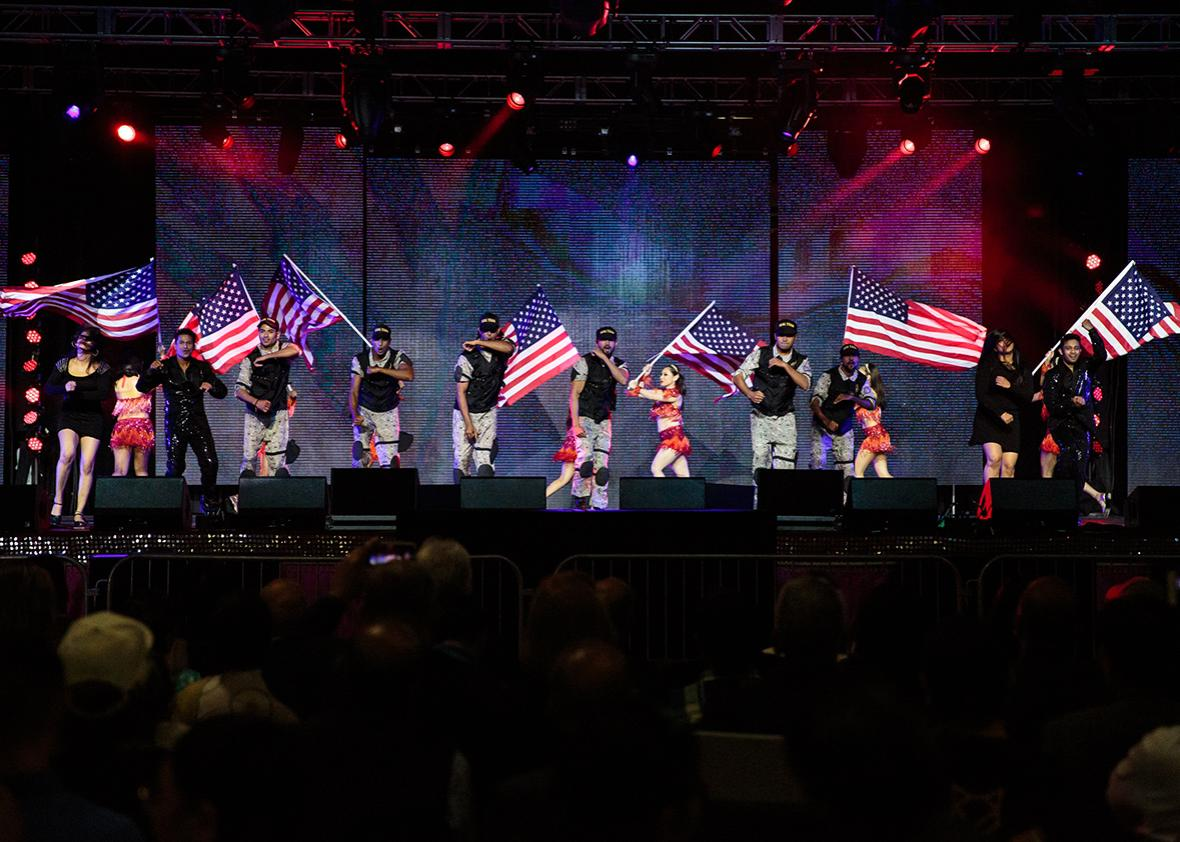 """The """"Humanity Against Terror Charity Concert"""" put on by the Hindu Republican Coalition featured a Bollywood-style depiction of a terror attack."""
