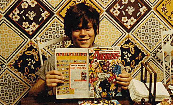The author as a young comic book enthusiast
