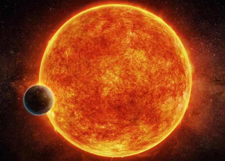 Artist's interpretation of the newly-discovered rocky exoplanet, LHS 1140b.