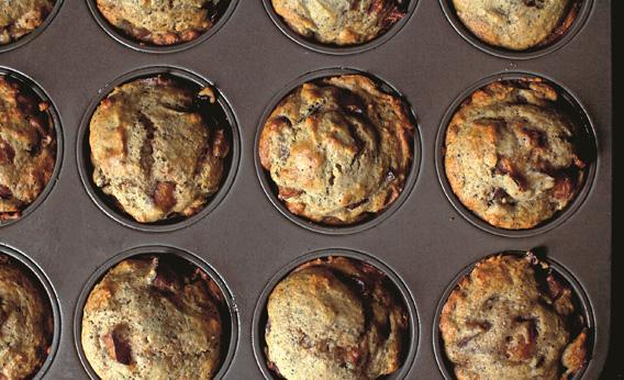 The perfect plum poppy seed muffins.