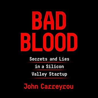 Bad Blood audiobook cover.