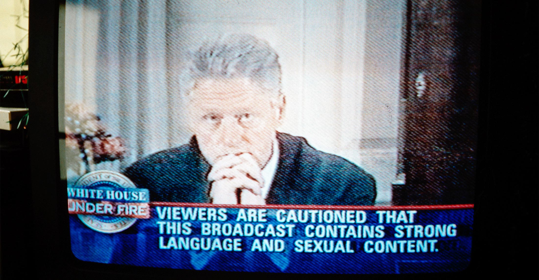 "Bill Clinton confesses on television to the American people that he did indeed have sexual relations with ""that woman,"" Monica Lewinsky."