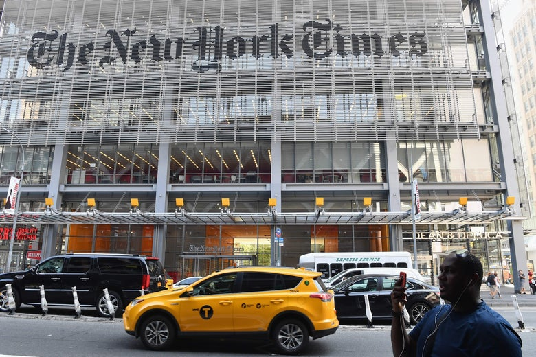 The New York Times building on Sept. 6, 2018, in New York.