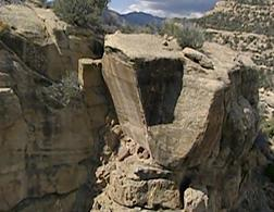 A still from PBS' Secret Canyon