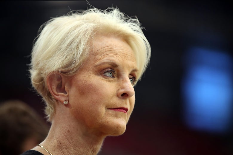 Cindy McCain, wife of the late U.S. Senator John McCain stands on the sidelines before a football game at State Farm Stadium on September 9, 2018 in Glendale, Arizona.