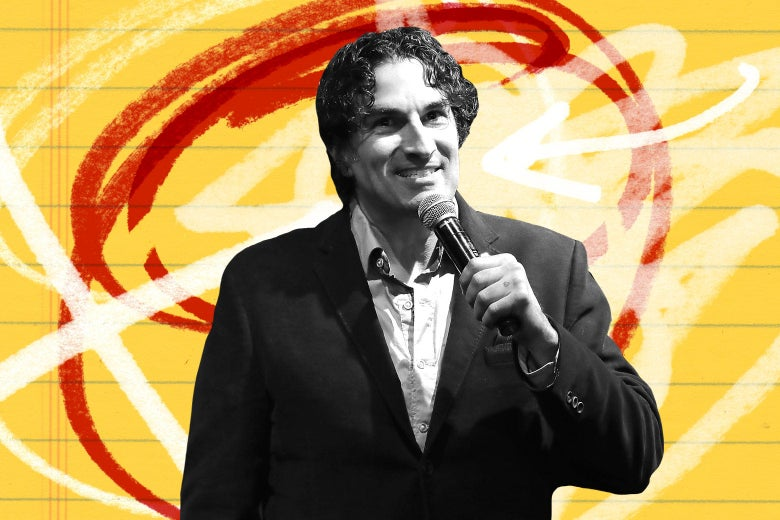 Gary Gulman performs onstage.