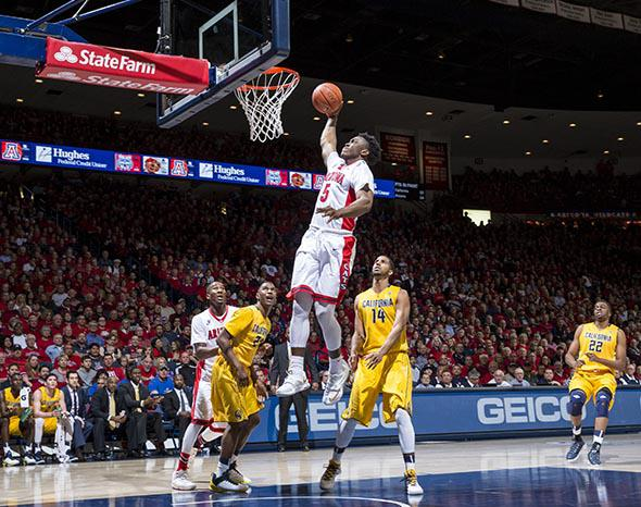 Stanley Johnson #5 of the Arizona Wildcats.