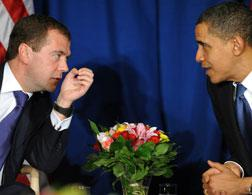 Dmitry Medvedev and Barack Obama. Click image to expand.