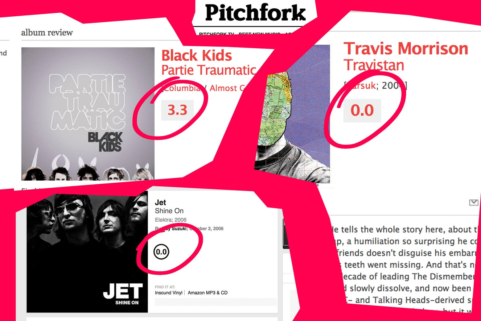 Pitchfork reviews.