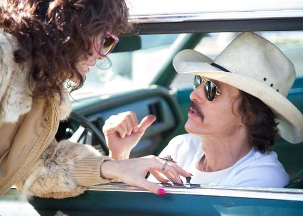Matthew McConaughey and Jared Leto in Dallas Buyers Club (2013).