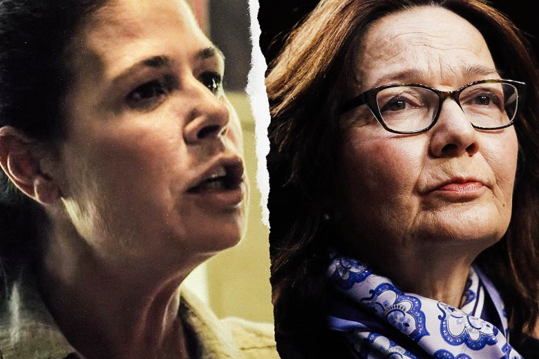Maura Tierney and Gina Haspel.