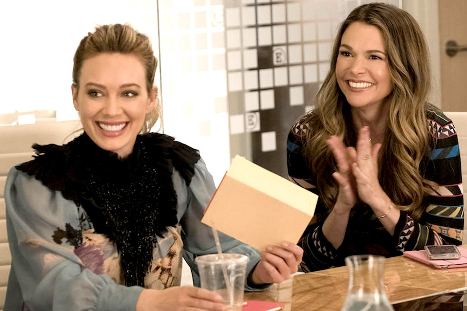 Hilary Duff and Sutton Foster in Younger.